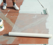 fiberglass laying for a perth sports court